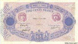 500 Francs BLEU ET ROSE FRANCE  1920 F.30.24 B+
