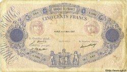 500 Francs BLEU ET ROSE FRANCE  1927 F.30.30 B+ à TB