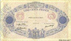 500 Francs BLEU ET ROSE FRANCE  1932 F.30.35 TB
