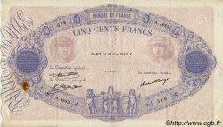 500 Francs BLEU ET ROSE FRANCE  1932 F.30.35 TTB