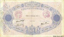 500 Francs BLEU ET ROSE modifié FRANCE  1937 F.31.04 pr.TB
