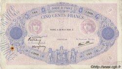 500 Francs BLEU ET ROSE modifié FRANCE  1938 F.31.09 TB