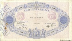 500 Francs BLEU ET ROSE modifié FRANCE  1938 F.31.11 pr.TB