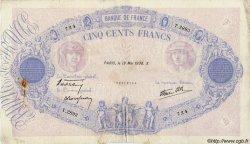 500 Francs BLEU ET ROSE modifié FRANCE  1938 F.31.11 B+