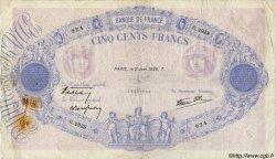 500 Francs BLEU ET ROSE modifié FRANCE  1938 F.31.13 B+