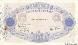 500 Francs BLEU ET ROSE modifié FRANCE  1939 F.31.22 TB+