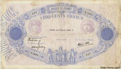 500 Francs BLEU ET ROSE modifié FRANCE  1939 F.31.25 TB