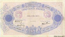 500 Francs BLEU ET ROSE modifié FRANCE  1939 F.31.26 pr.TTB