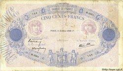 500 Francs BLEU ET ROSE modifié FRANCE  1939 F.31.27 B+