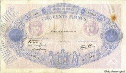 500 Francs BLEU ET ROSE modifié FRANCE  1939 F.31.29 TB