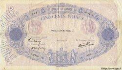 500 Francs BLEU ET ROSE modifié FRANCE  1939 F.31.33 pr.TTB