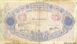 500 Francs BLEU ET ROSE modifié FRANCE  1939 F.31.36 B