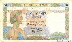 500 Francs LA PAIX FRANCE  1940 F.32.04 TTB