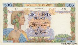 500 Francs LA PAIX FRANCE  1940 F.32.04 SUP