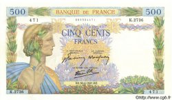 500 Francs LA PAIX FRANCE  1941 F.32.15 SPL+