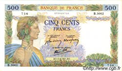 500 Francs LA PAIX FRANCE  1941 F.32.18 SUP à SPL