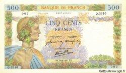 500 Francs LA PAIX FRANCE  1941 F.32.19 SPL