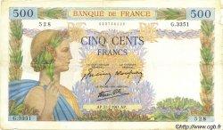 500 Francs LA PAIX FRANCE  1941 F.32.20 TTB