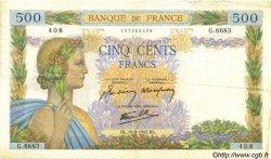500 Francs LA PAIX FRANCE  1942 F.32.40 TTB