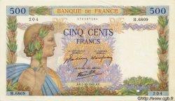 500 Francs LA PAIX FRANCE  1942 F.32.41 TTB à SUP