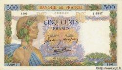 500 Francs LA PAIX FRANCE  1942 F.32.41 pr.SUP