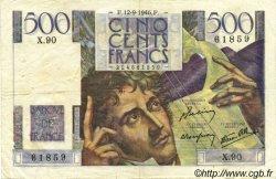 500 Francs CHATEAUBRIAND FRANCE  1946 F.34.06 pr.TTB