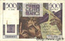 500 Francs CHATEAUBRIAND FRANCE  1948 F.34.08 TTB