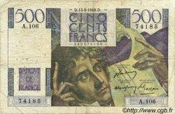 500 Francs CHATEAUBRIAND FRANCE  1948 F.34.08 B
