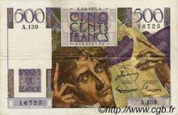 500 Francs CHATEAUBRIAND FRANCE  1953 F.34.12 TTB+