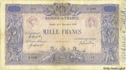 1000 Francs BLEU ET ROSE FRANCE  1919 F.36.34 B+