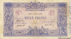1000 Francs BLEU ET ROSE FRANCE  1920 F.36.35 TB+