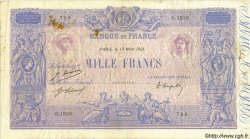 1000 Francs BLEU ET ROSE FRANCE  1921 F.36.37 TB+