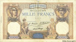 1000 Francs CÉRÈS ET MERCURE FRANCE  1928 F.37.02 pr.TB