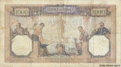 1000 Francs CÉRÈS ET MERCURE FRANCE  1930 F.37.04 TB+