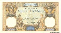 1000 Francs CÉRÈS ET MERCURE FRANCE  1932 F.37.07 SUP à SPL