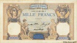 1000 Francs CÉRÈS ET MERCURE FRANCE  1936 F.37.09 TB