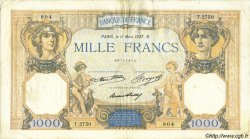 1000 Francs CÉRÈS ET MERCURE FRANCE  1937 F.37.10 TB+
