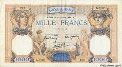 1000 Francs CÉRÈS ET MERCURE type modifié FRANCE  1937 F.38 TTB