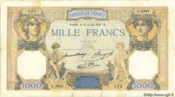 1000 Francs CÉRÈS ET MERCURE type modifié FRANCE  1937 F.38.02 TB+