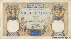 1000 Francs CÉRÈS ET MERCURE type modifié FRANCE  1937 F.38.04 TB