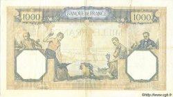 1000 Francs CÉRÈS ET MERCURE type modifié FRANCE  1938 F.38.10 TTB à SUP