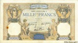 1000 Francs CÉRÈS ET MERCURE type modifié FRANCE  1938 F.38.12 TB