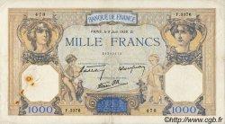 1000 Francs CÉRÈS ET MERCURE type modifié FRANCE  1938 F.38.18
