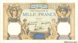 1000 Francs CÉRÈS ET MERCURE type modifié FRANCE  1938 F.38.25 TTB+