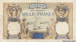 1000 Francs CÉRÈS ET MERCURE type modifié FRANCE  1938 F.38.26 pr.TTB