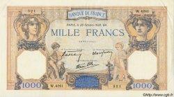 1000 Francs CÉRÈS ET MERCURE type modifié FRANCE  1938 F.38.30 SUP