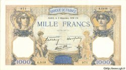 1000 Francs CÉRÈS ET MERCURE type modifié FRANCE  1938 F.38.32 SUP