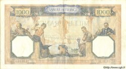 1000 Francs CÉRÈS ET MERCURE type modifié FRANCE  1939 F.38.33 TTB à SUP