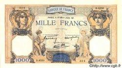 1000 Francs CÉRÈS ET MERCURE type modifié FRANCE  1939 F.38.35 SUP