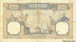 1000 Francs CÉRÈS ET MERCURE type modifié FRANCE  1939 F.38.36 TTB